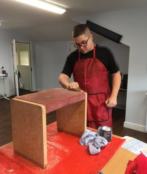 Vocational Enterprise – Sew Right: Helping to restore and upcycle old furniture