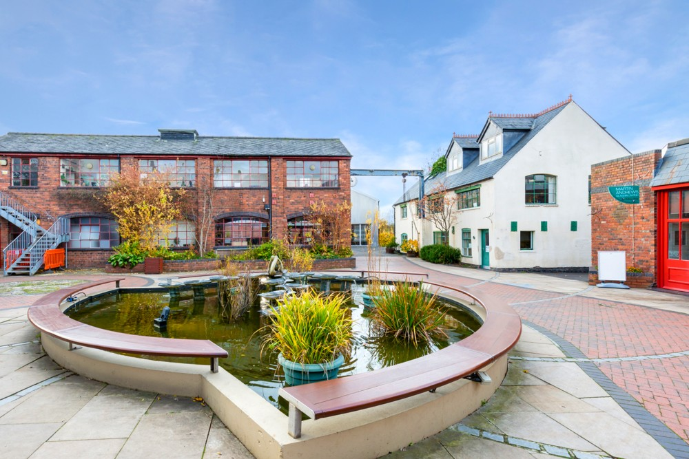 Glasshouse College courtyard