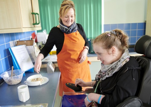 One of our students photographed during cooking session