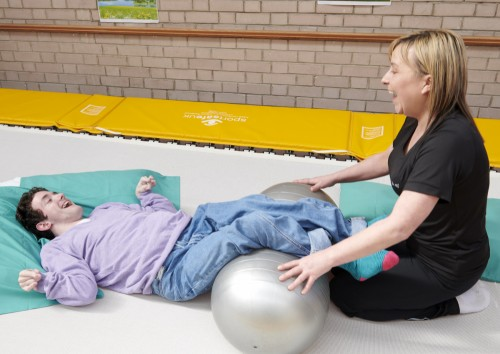 One of our students during Trampoline Therapy delivered by Physio team