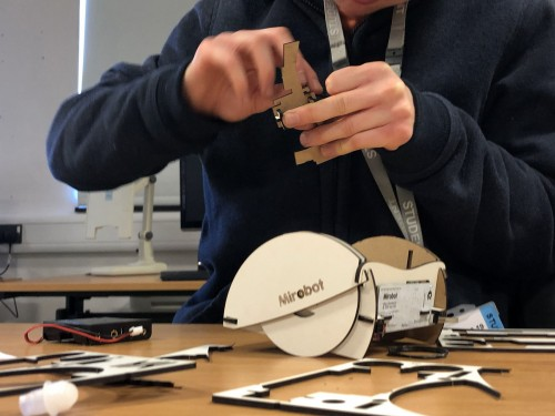 Student taking part in STEM activity