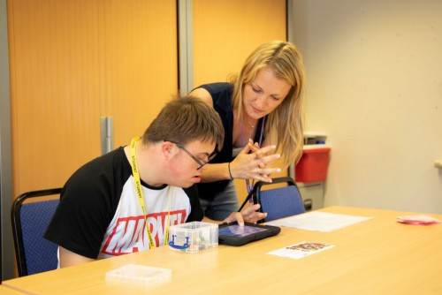 Learner enjoying LEGO®-Based Therapy with our in-house Speech and Language Therapist
