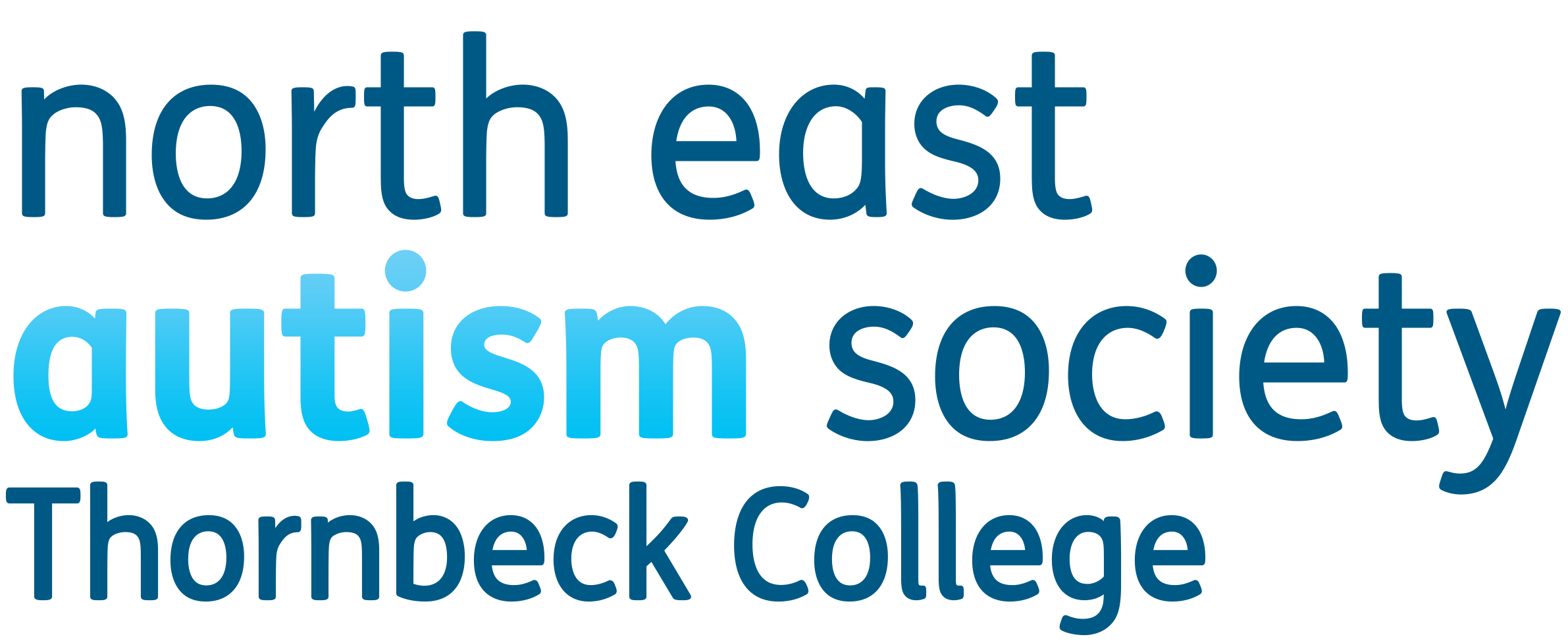 The logo of Thornbeck College - North East Autism Society
